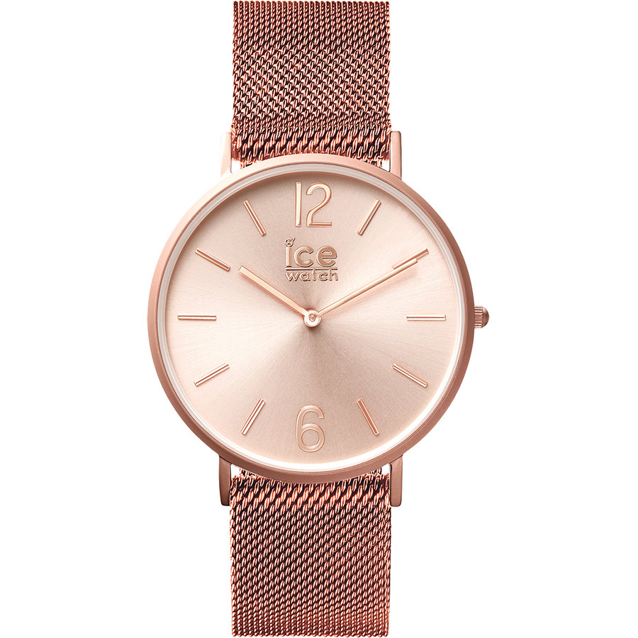 Ceas unisex ice city milanese rose gold matte
