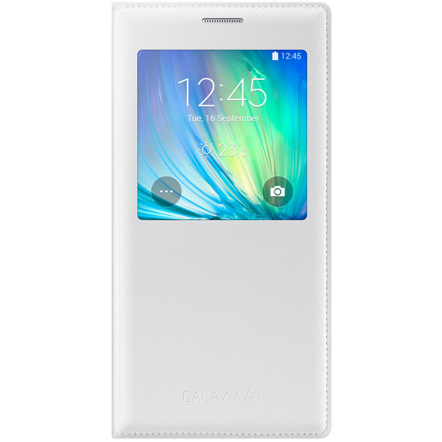 S View Cover EF-CA700BWEGWW, Galaxy A7 2015, Alb