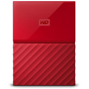 Hard disk extern Western Digital MyPassport 4TB USB 3.0 Rosu