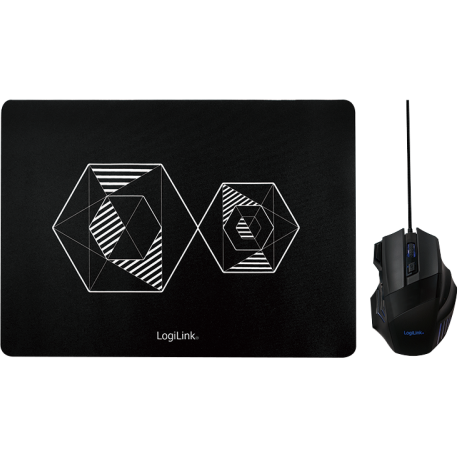 Mouse USB, Black + Mousepad