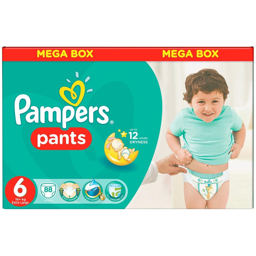 Scutece Pampers Active Baby Pants 6 Mega Box Pack 88 buc
