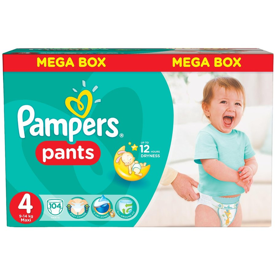 Scutece Pampers Active Baby Pants 4 Mega Box Pack 104 buc