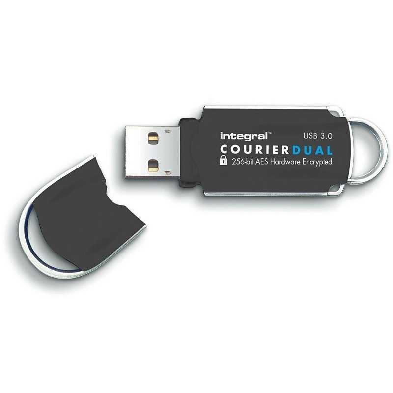 Memorie USB Flashdrive Courier Dual 16GB USB3.0 FIPS 197 AES 256-bit enryption