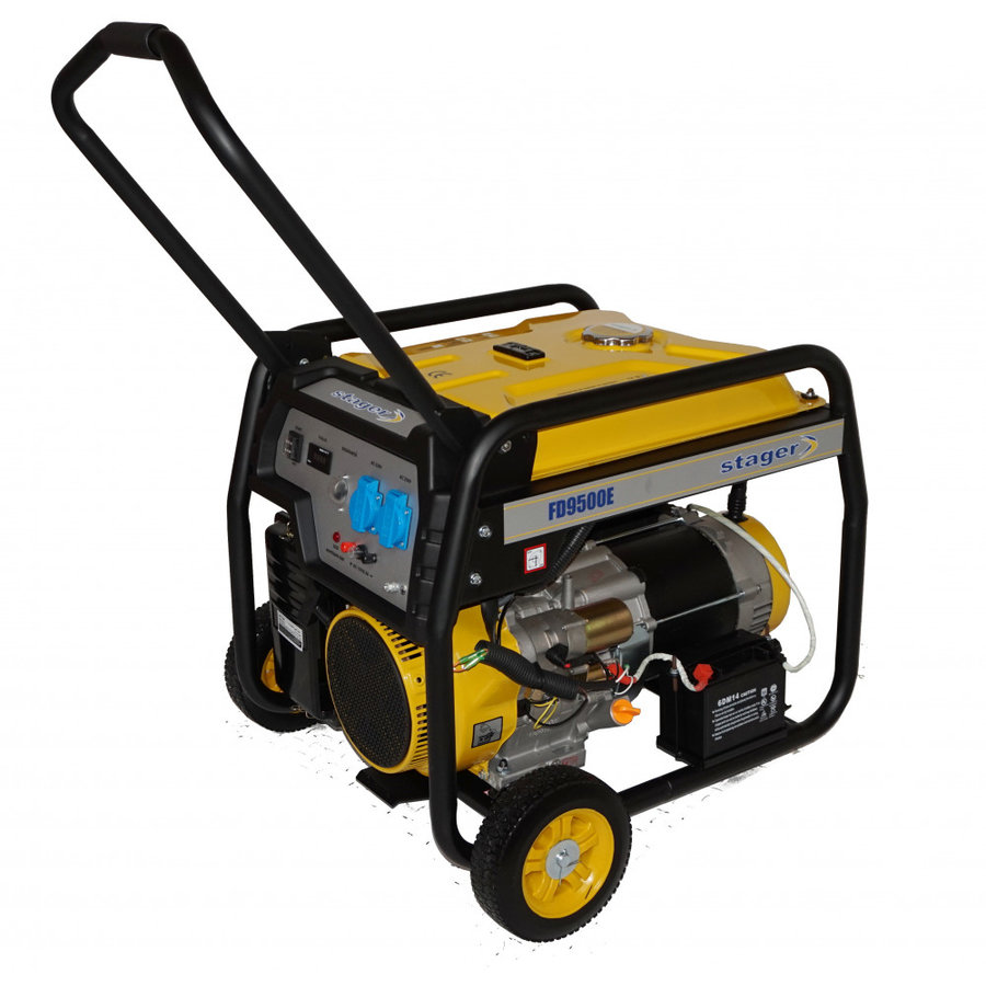 Generator Stager FD 9500E, open frame, 17.5 CP, 7.5 kW