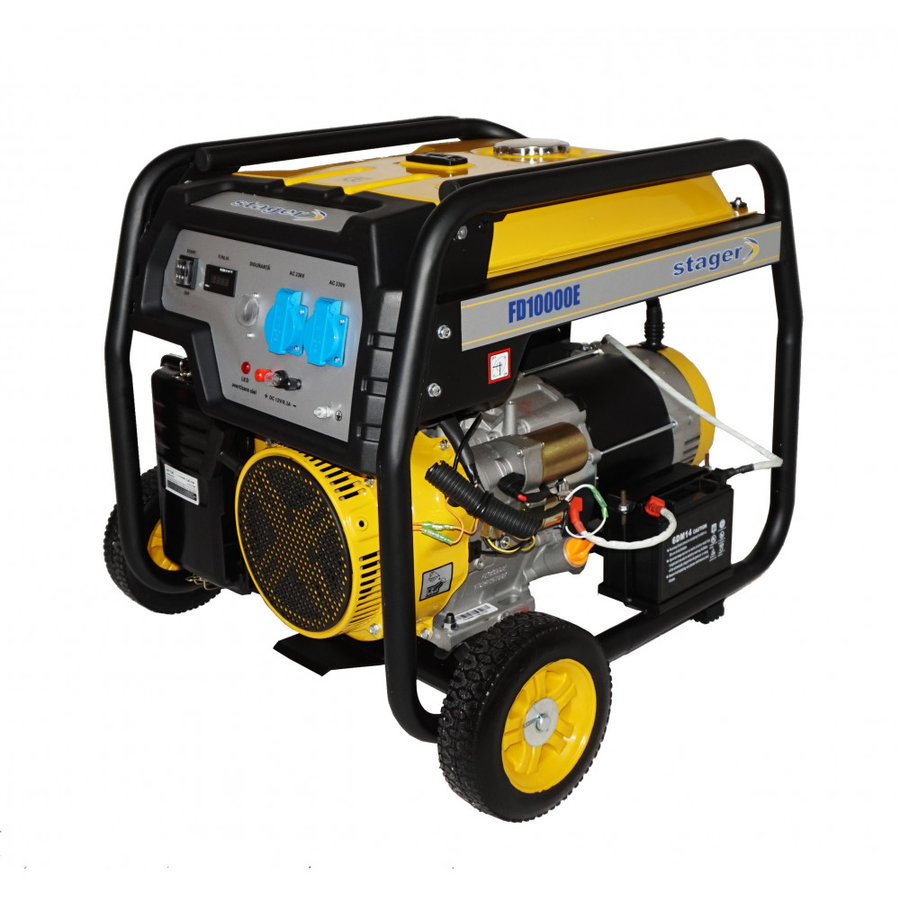 Generator Stager, FD 10000E, open frame, 19 CP, 8.5 kW