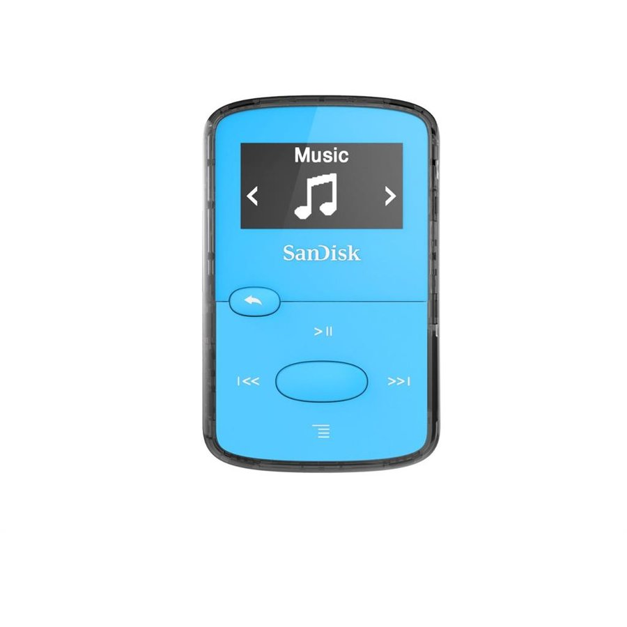 Player CLip Jam MP3 8GB, microSDHC, Radio FM, Blue
