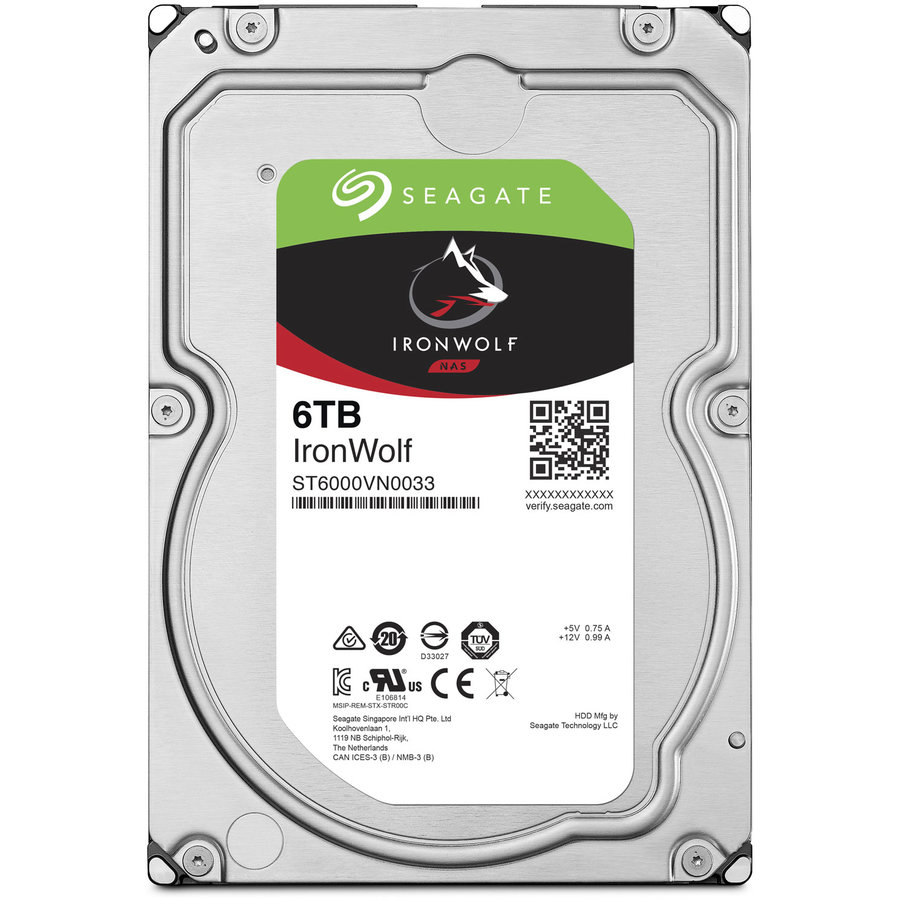 Hard disk Ironwolf ST6000VN0033 6TB 7200RPM SATA3 256MB 3.5 inch