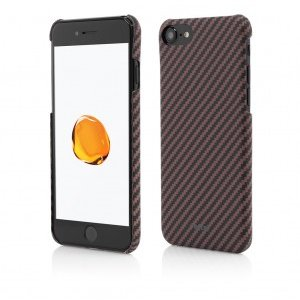 iPhone 8 7 | Clip-On Ultra Slim | made from Aramid Fiber | Kevlar | Brown