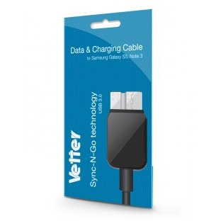 Samsung Galaxy S5 | Note 3 | Data and Charging Cable | Vetter Black