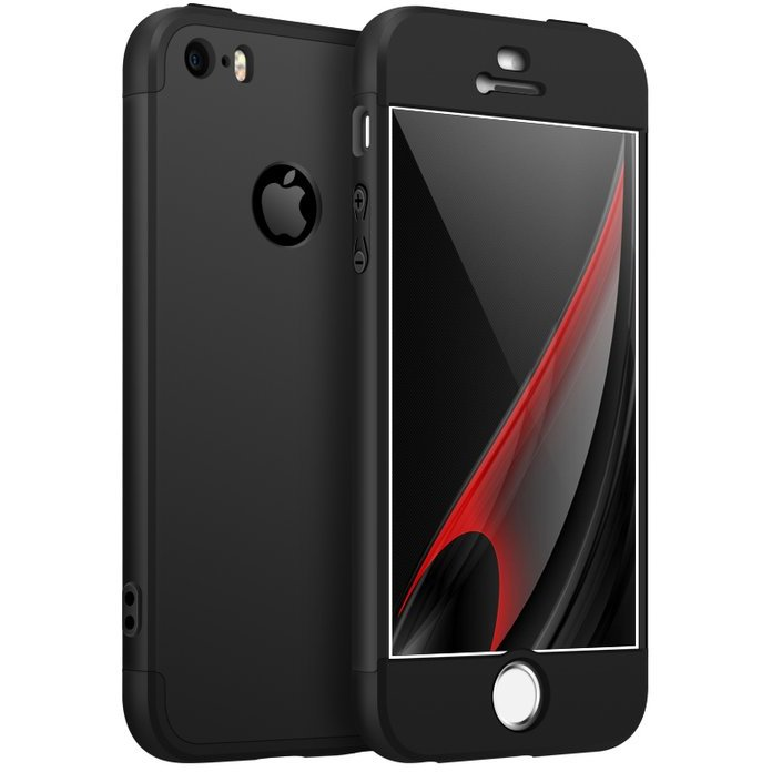 Husa iPhone 6 Plus / 6s Plus GKK 360 Logo Cut Negru