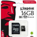 Card memorie Kingston Canvas Select 80R 16GB MicroSDXC Clasa 10 UHS-I + adaptor SD