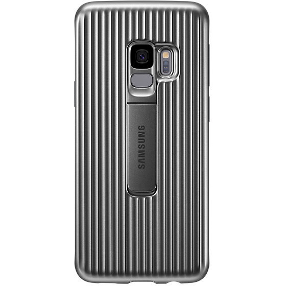 Galaxy S9 G960 Protective Standing Cover Silver