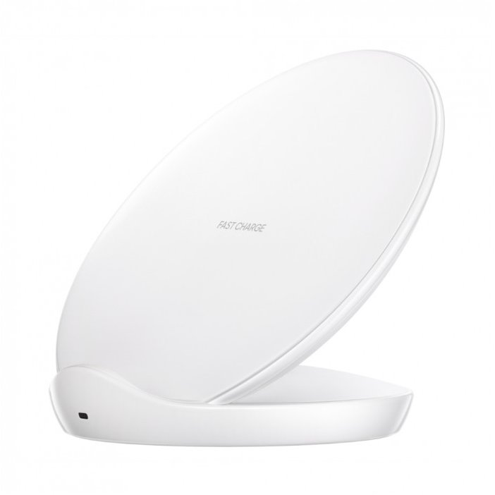 Wireless charger standing incarcator inclus White