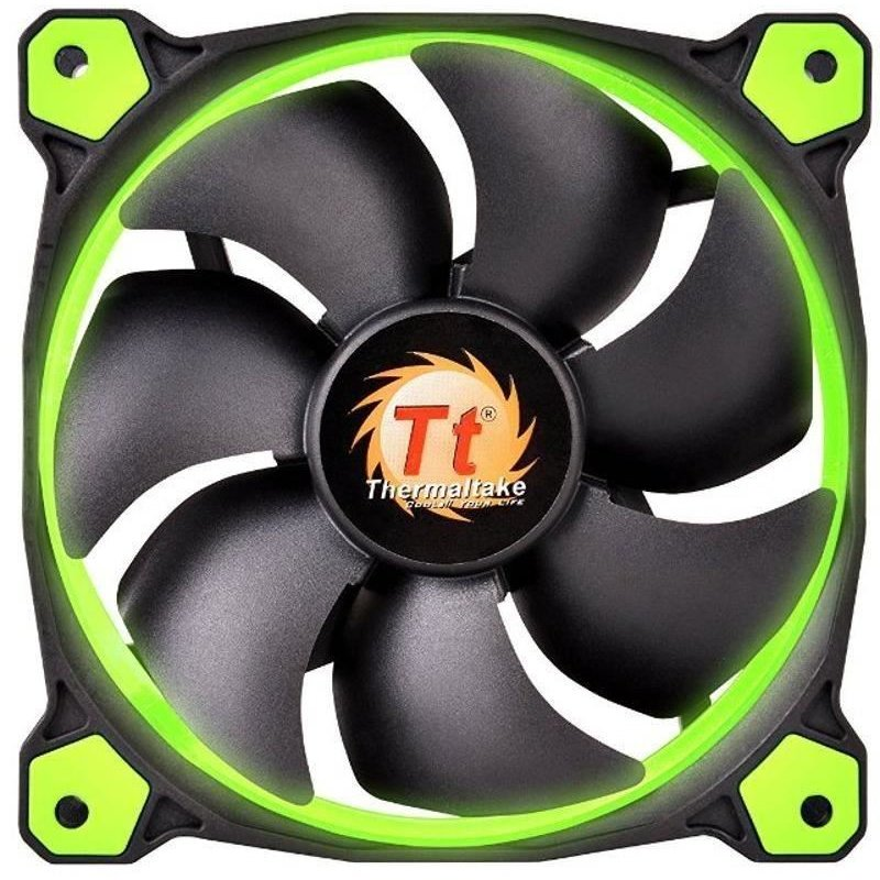 Riing 12 High Static Pressure 120mm Green LED Three fans pack