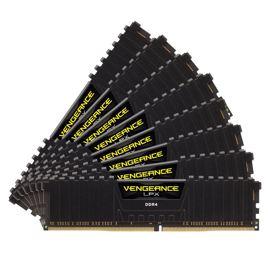 Memorie Vengeance LPX Quad Channel Kit 64GB (8x8GB) DDR4 4133MHz CL19 1.40v
