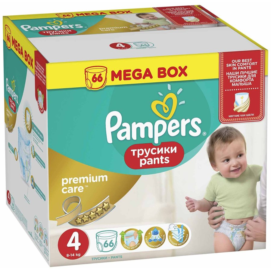 Premium Care Pants 4 Mega Box 66 buc