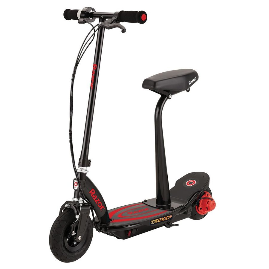 Electric Scooter Razor E100S ''Power Core'' - Red with seat