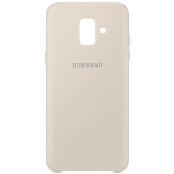 Dual Layer Cover Galaxy A6 (2018) Gold