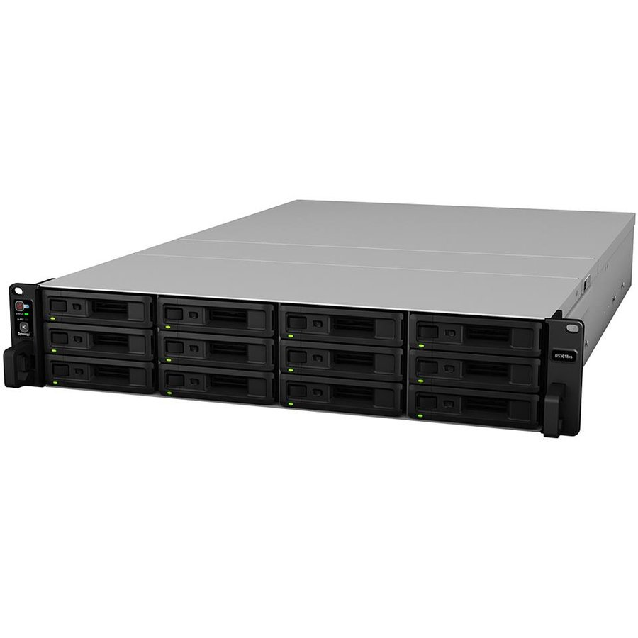 NAS RS3618xs, 12-Bay, 4C 2.4GHz, 8GB , 4xGbE, 2xUSB 3.0, 1 x Power Supply