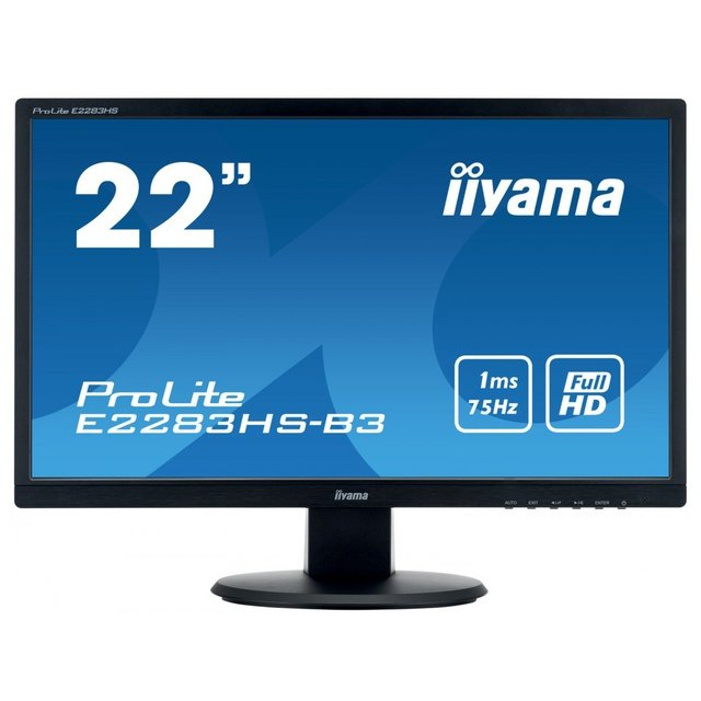 Monitor LED E2283HS-B3 21.5 FHD 1 ms Black