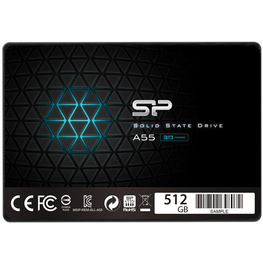 SSD Silicon Power SSD Ace A55 512GB 2.5'', SATA III 6GB/s, 560/530 MB/s, 3D NAND