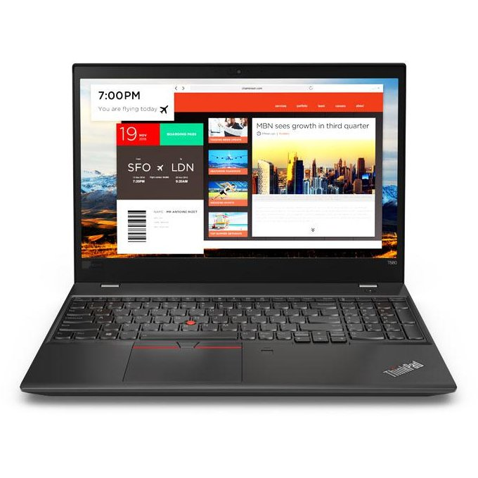 Notebook ThinkPad T580 15.6 FHD i7-8550U 8GB 256GB Windows 10 Pro Black