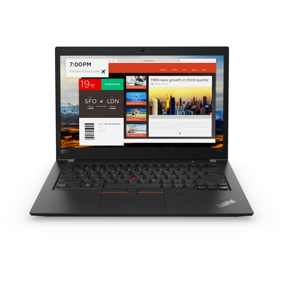 Notebook ThinkPad T480 14 FHD i7-8550U 16GB 512GB Windows 10 Pro Black
