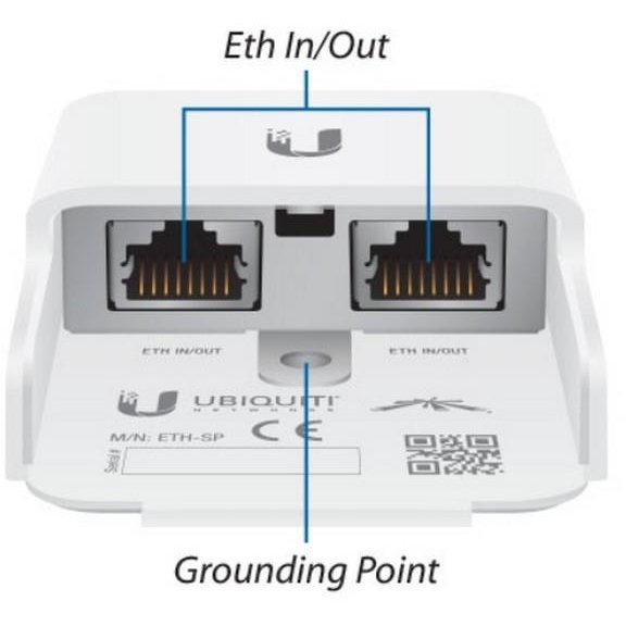 Adaptor PowerLan Ubiquiti ETH-SP Gen 2 Ethernet Surge Protector - Data Line Protection (PoE)