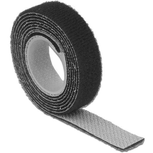 Delock Hook-and-loop fasteners L 1 m x W 13 mm roll black