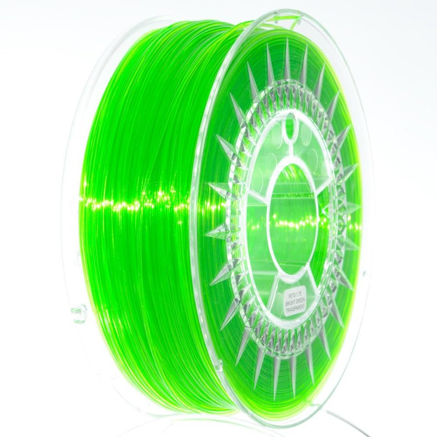 Filament DEVIL DESIGN / PETG / BRIGHT GREEN TRANSPARENT / 1,75 mm / 1 kg.