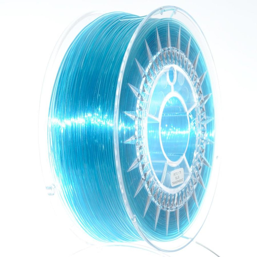 Filament DEVIL DESIGN / PETG / BLUE TRANSPARENT / 1,75 mm / 1 kg.