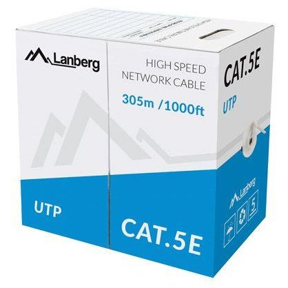 Lanberg UTP solid cable, CCA, cat. 5e, 305m, gray
