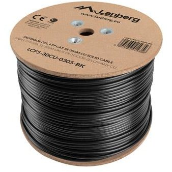 Lanberg FTP solid outdoor gel. cable, CU, cat.5e, 305m, Gray