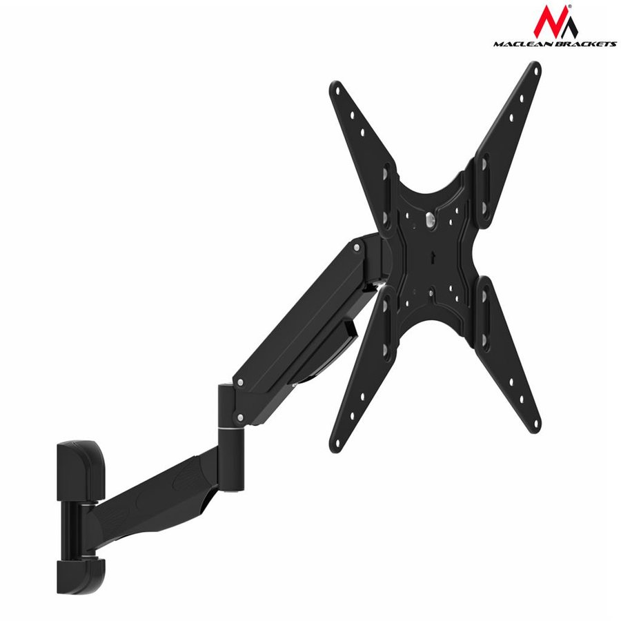Maclean MC-784 TV or monitor holder black gas spring 32 ''-55'' 22kg 2 arms