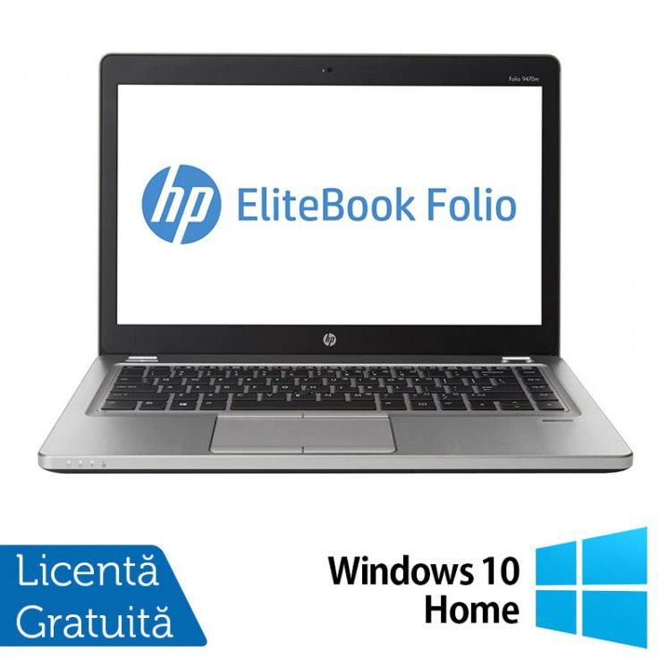 Laptop HP EliteBook Folio 9470M, Intel Core i5-3427U 1.80GHz, 8GB DDR3, 180GB SSD + Windows 10 Home, Refurbished