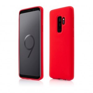 Samsung Galaxy S9 Plus | Clip-On Soft Touch Silk Series | Red
