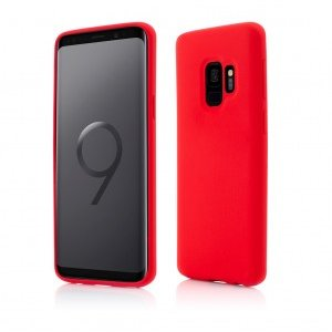 Samsung Galaxy S9 | Clip-On Soft Touch Silk Series | Red