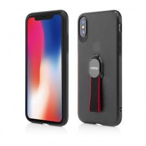 iPhone X | Smart Case Hybrid | with Removable Strap | Magnetic Ready | Black