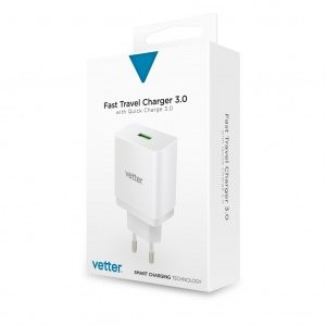 Incarcator de retea Universal Travel Charger   with Quick Charge 3.0 TECHNOLOGY   White