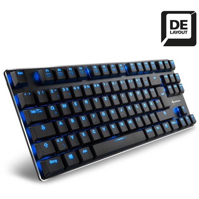 Tastatura TASTATURA SHARKOON PURE WRITER TKL BLUE