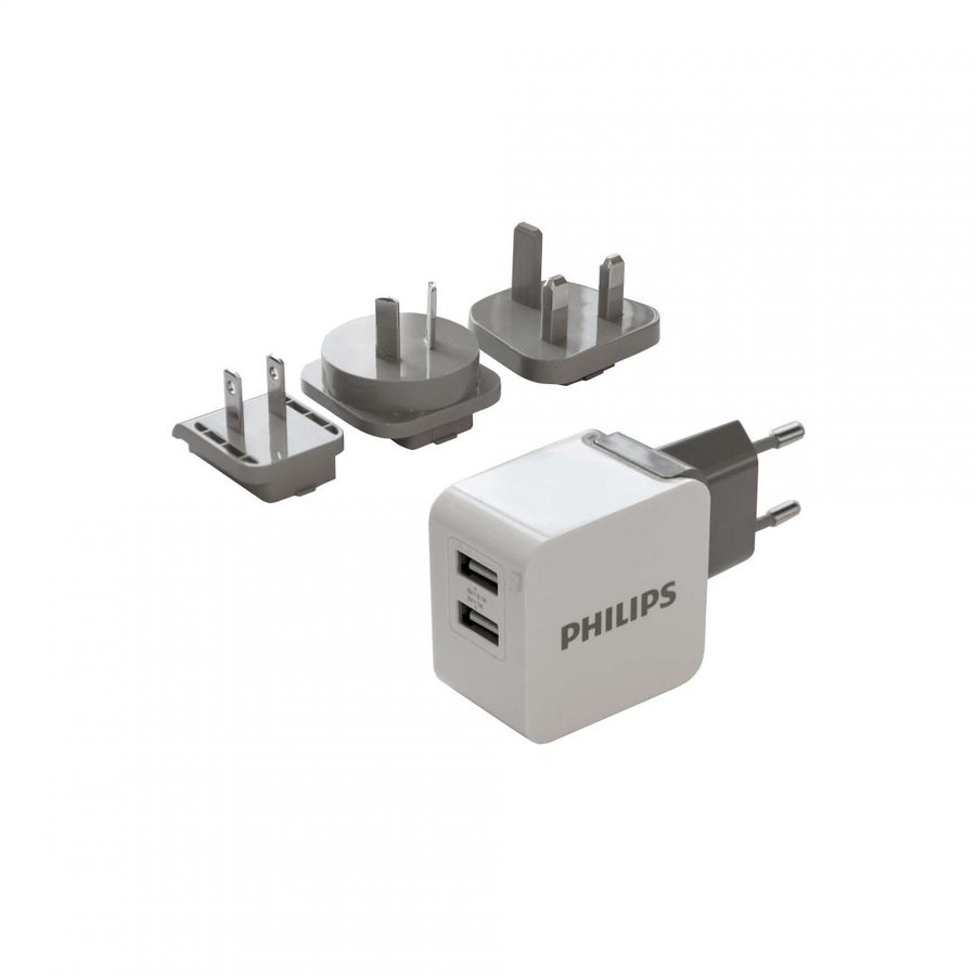 Incarcator de retea PH Travel adapter 2 USB, 5V/3.1A