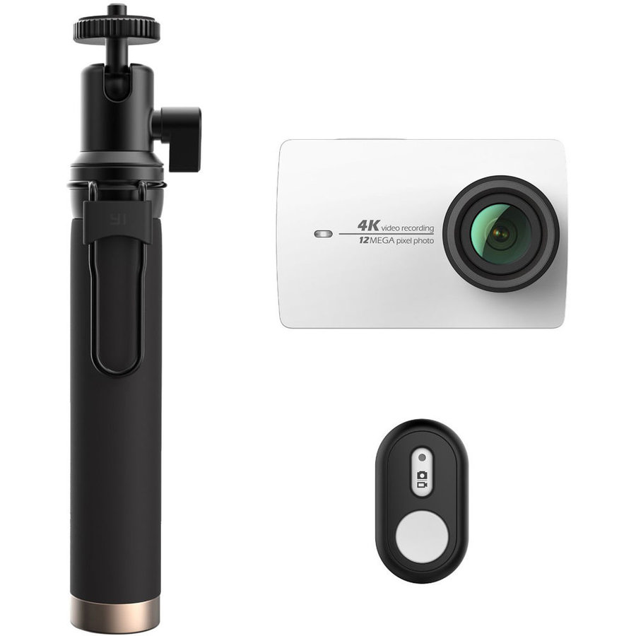 Camera Sport Outdoor YI 4K Action + Selfiestick Alb