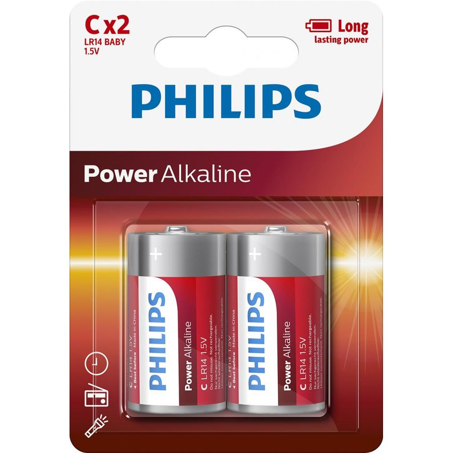 PH POWER ALKALINE C 2-BLISTER