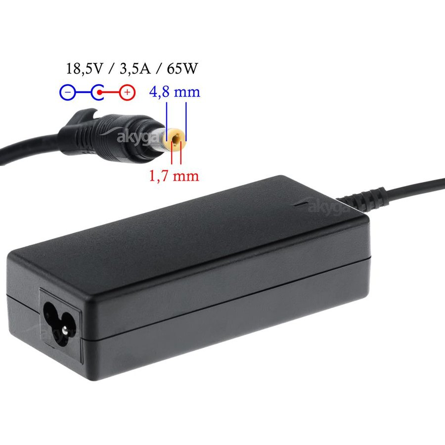 Akyga notebook power adapter AK-ND-09 18.5V/3.54A 65W 4.8x1.7 mm HP