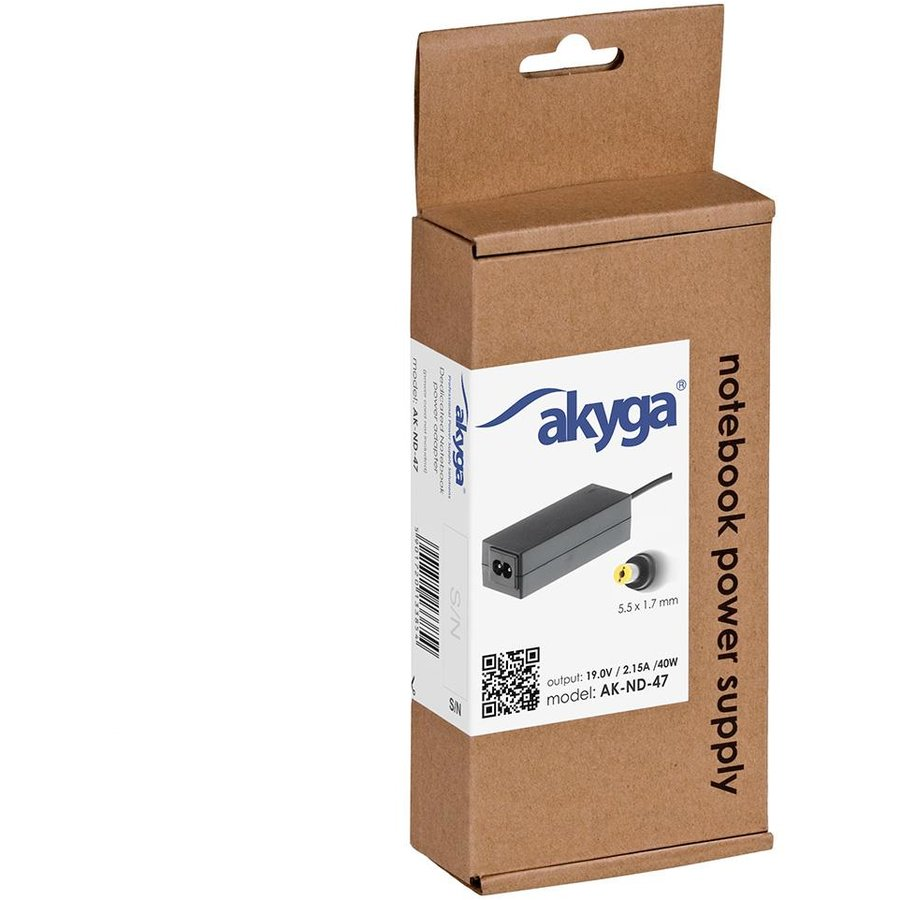 Akyga Notebook power supply AK-ND-47 19V/2.15A 40W 5.5x1.7 mm ACER
