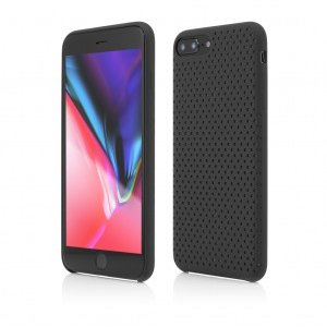 iPhone 8 Plus 7 Plus | Clip-On Silk Dot Design | Black