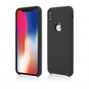 iPhone X | Clip-On Silk Dot Design | Black