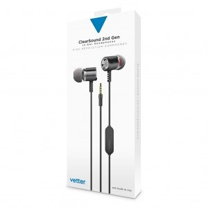 ClearSound In-Ear Headphones 2nd Gen | Handsfree | Grey