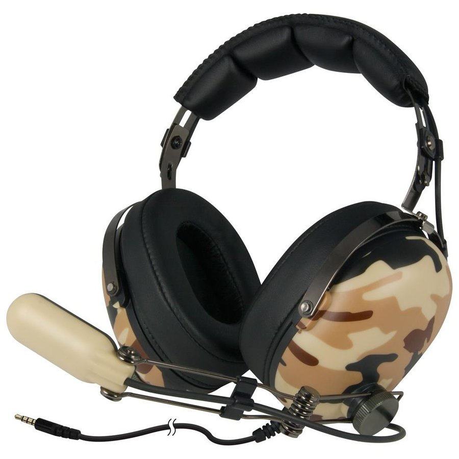 Casti Arctic gaming headset P533 Military, over-ear, strong bass
