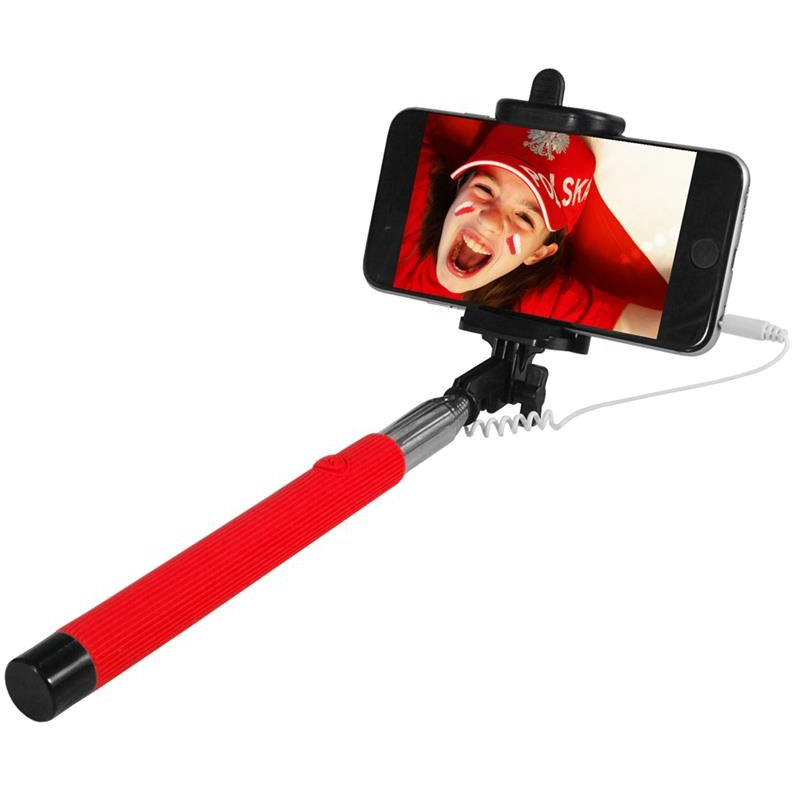 ART SELFIE STICK wired KS10A ART-OEM red